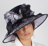Zebra Print Derby Hat