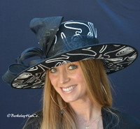 Black and White Triple Crown Derby Hat