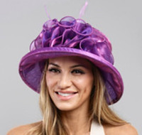 Packable Organza Small Brim Dress Hat