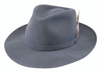 Biltmore's Traveler Fedora in Dark Steel