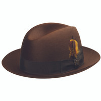 Biltmore's Chicago Center Crease Fedora in Brown