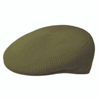 Kangol Tropic Ventair 504 Flat Cap - Olive Green