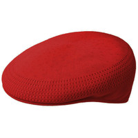Kangol Tropic Ventair 504 Flat Cap - Scarlet Red