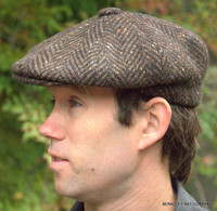 Irish Heavy Wool Herringbone 8/4 Cap IR20