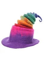 Rainbow Borealis Heatfelted Witch Hat