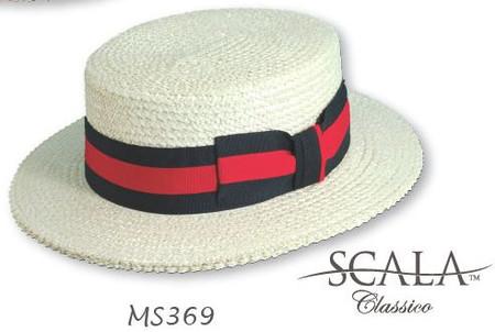 Straw Boater Hat, Skimmer