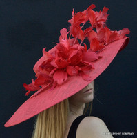 Sunsational Red Derby Hat - FREE US EXPRESS