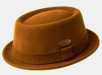 Kangol Lite Felt Pork Pie Hat in Terra Cotta Rust