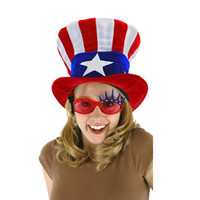 USA FLAG TOP HAT