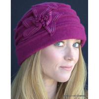 Ladies Boiled Wool Cloche Toque Hat