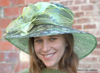 Green Silver-Black Sequined Race Hat
