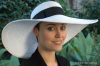 Wide Brim Paper Braid Picture Hat, White