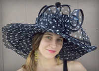 Wide Brim Polkadot Hat for the Kentucky Derby