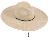 Women's Large Brim Fedora Hat with Chincord