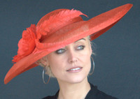 Red Kate's Derby Hat - FREE U.S. EXPRESS SHIPPING!