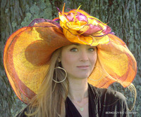 Orange Dynamic MultiColored Kentucky Derby Hat