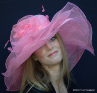 Women's Afternoon Tea Party Hat in Pink