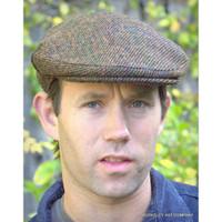 Harris Tweed Scottish Cap, Brown Twill  (IR17)