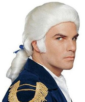 Mens Colonial Wig with Bow