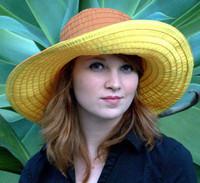 Women's Ribbon Hat, two tone