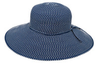 WIDE BRIM WOMEN'S RIBBON HAT