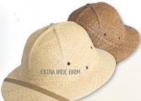Raffia Pith Helmet - Safari Hat