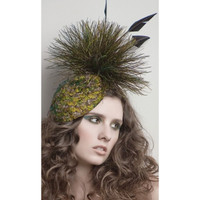 Peacock Fascinator Hat, Anna by Arturo Rios