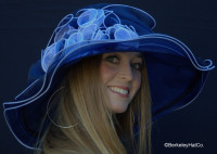 Ultimate Hat for the Kentucky Derby in Navy and White
