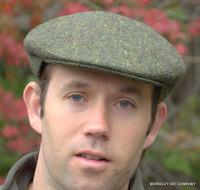 Green Donegal Tweed Irish Ivy Flat Cap (IR06)