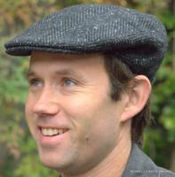 Irish Heavy Wool Herringbone Ivy Flat Cap, Gray IR45