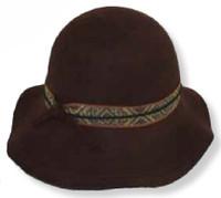 Women's Wool Floppy Brim Bucket Style Hat
