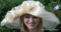 Wide Brim Sinamay off-the-face Hat for the Derby