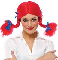 Spunky Braided Red Wig