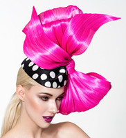 Lisa, Hot Pink Bow Pillbox by Arturo Rios