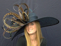 Winner's Circle Feathered Derby Hat FREE US EXPRESS