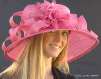 Woman's Royal Ascot Derby Hat in Rose.