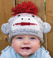 Cotton Sock Monkey Beanie, Kids