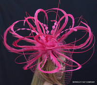 Pink Feather Winner's Circle Fascinator - FREE US EXPRESS!