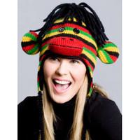 Rasta Sock Monkey Hat