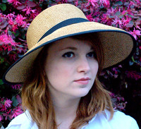 Women's Straw Bonnet Hat