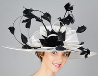Rodeo Drive Kentucky Derby Hat in Black and White.