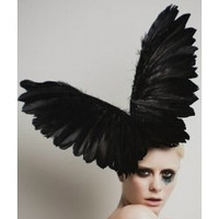 Electra, Black Wings Fascinator Hat by Arturo Rios