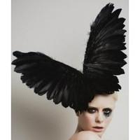 Electra, Black Wings Fascinator Hat by Arturo Rios