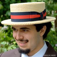 Boater Hat, Skimmer, Italian Straw