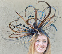 Winner's Circle Pheasant Feather Fascinator FREE US EXPRESS