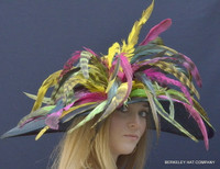 Fabulous Feather Derby Hat - FREE US EXPRESS