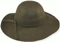 Womens Wide Brim Felt Hat
