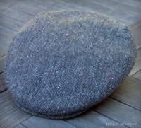 Irish Donegal Salt and Pepper Cap, Wool Tweed (IR75)