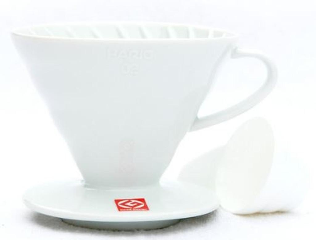 Hario V60 Coffee Dripper - Size 02 - White Ceramic