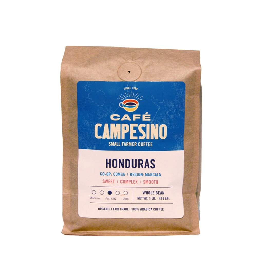 Cafe Campesino Honduras Full City Roast Fair Trade Coffee
